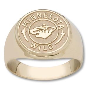 Minnesota Wild Logo Men's Ring - 10k Gold
