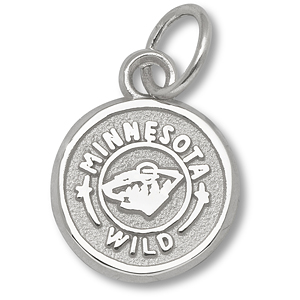 Sterling Silver 3/8in Minnesota Wild Circle Charm
