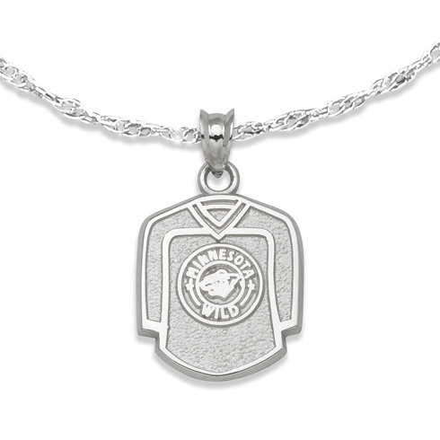 Minnesota Wild 5/8in Jersey on Chain Sterling Silver