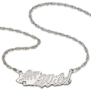 Sterling Silver 18in Minnesota Wild Script Necklace