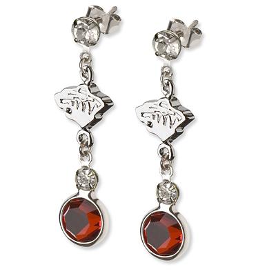 Minnesota Wild Crystal Logo Earrings