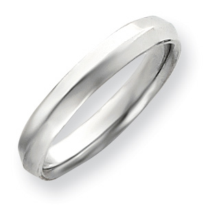 4mm Knife Edge Band - 14k White Gold