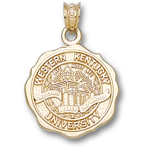 Western Kentucky 5/8in Pendant 10kt Yellow Gold