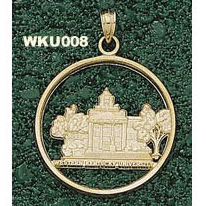 Western Kentucky 1in Pendant 14kt Yellow Gold