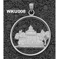 Western Kentucky 1in Pendant Sterling Silver