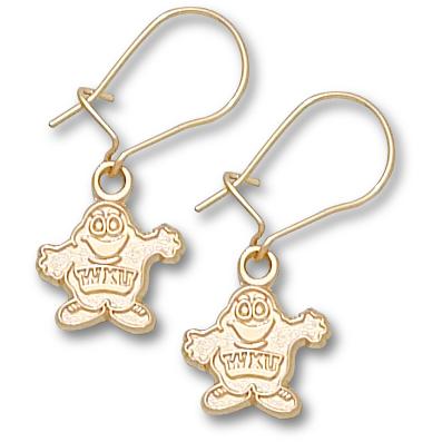 Western Kentucky 3/8in Earrings 14kt Yellow Gold