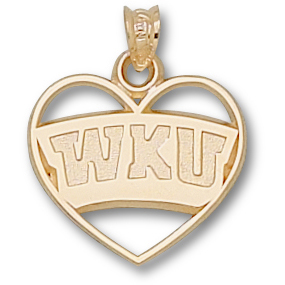 10kt Yellow Gold 5/8in Western Kentucky Heart Pendant