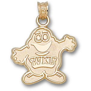 Western Kentucky 5/8in Pendant 14kt Yellow Gold