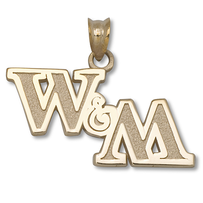 10kt Yellow Gold College of William & Mary 1/2 in Pendant