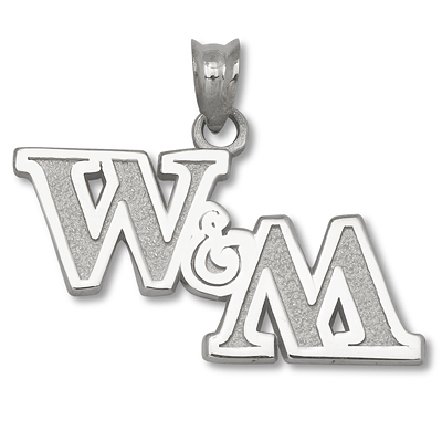 Sterling Silver College of William & Mary 1/2 in Pendant