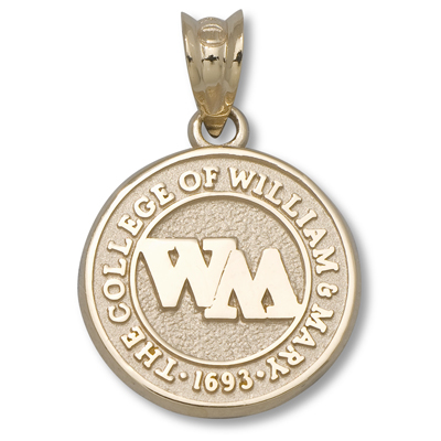 14kt Gold 1/2in College of William & Mary Seal Charm