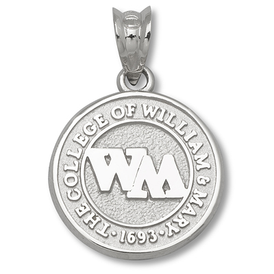 Sterling Silver College of William & Mary 1/2in Seal Charm