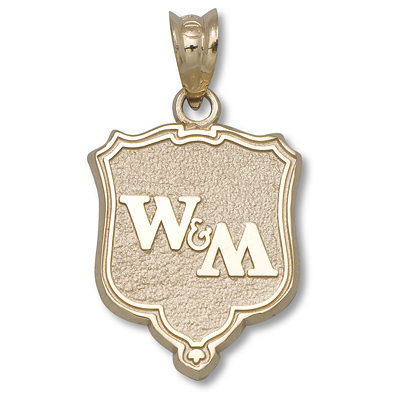 10kt Yellow Gold 5/8in College of William & Mary Shield Pendant
