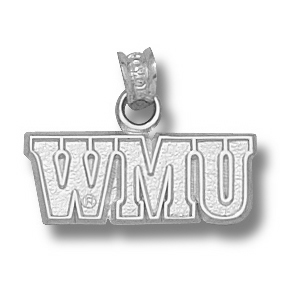 Western Michigan Broncos 1/4in Sterling Silver Pendant