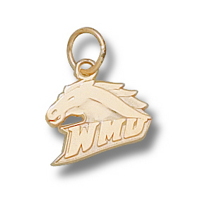 14kt Yellow Gold 3/8in Western Michigan Broncos Charm