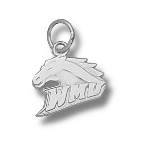 Sterling Silver 3/8in Western Michigan Broncos Charm