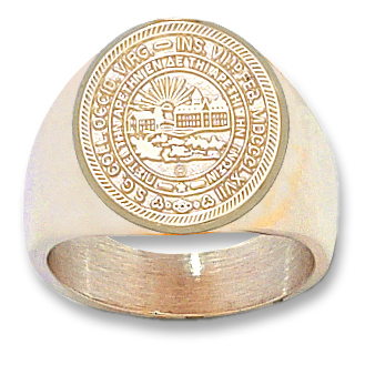10kt Yellow Gold West Virginia University Seal Men's Ring