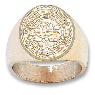 14kt Yellow Gold West Virginia University Seal Men's Ring