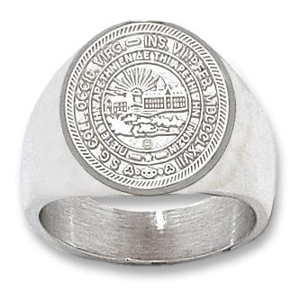 Sterling Silver West Virginia University Seal Men's Ring