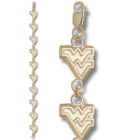 West Virginia U 7 1/4in Bracelet 10kt Yellow Gold