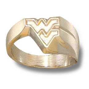 West Virginia Ladies Ring 10kt Yellow Gold