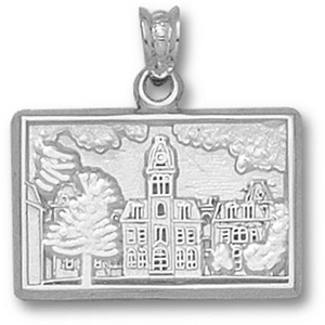WVU Woodburn Hall 1/2in Sterling Silver Pendant