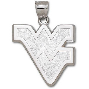 WVU Giant 1 1/2in Sterling Silver Pendant