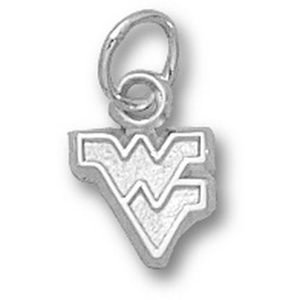 West Virginia Mountaineers 1/4in Sterling Silver Pendant