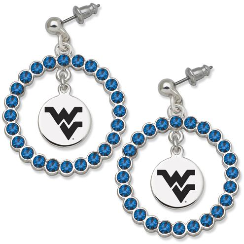 West Virginia University Spirit Crystal Logo Earrings