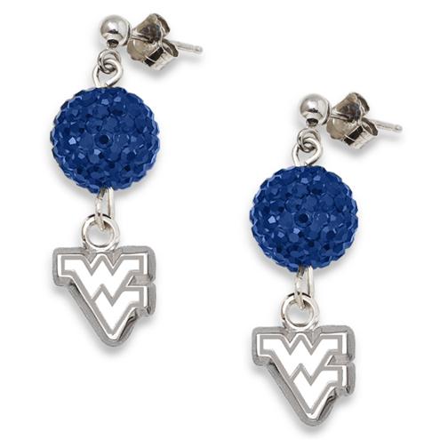 West Virginia University Crystal Ovation Earrings
