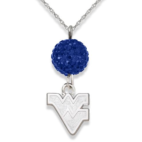 West Virginia University Crystal Ovation Necklace