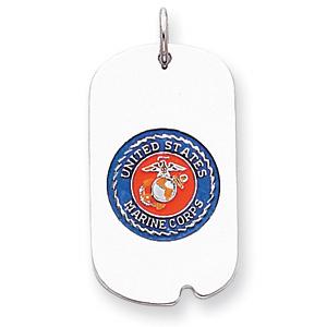 U.S. Marine Corps Dog Tag - Sterling Silver