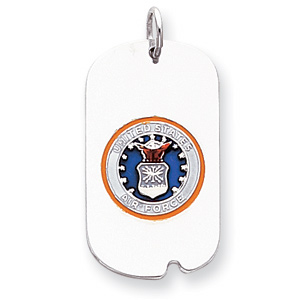 Sterling Silver U.S. Air Force Dog Tag