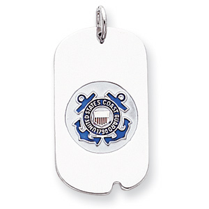 Sterling Silver U.S. Coast Guard Dog Tag