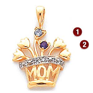 Mom Bouquet Pendant