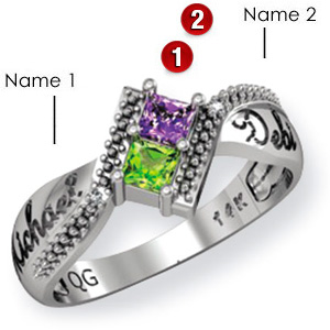 Sterling Silver Prancing Promise Ring