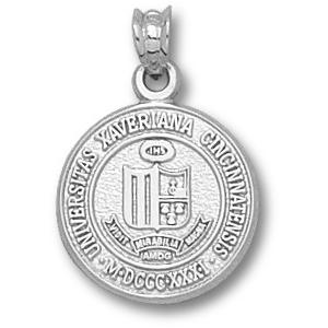 Sterling Silver 5/8in Xavier University Seal Pendant