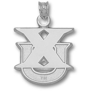 Sterling Silver 5/8in Xavier XU Pendant
