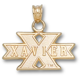 14kt Yellow Gold 3/8in Xavier University X Pendant