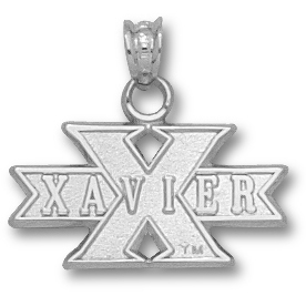 Sterling Silver 3/8in Xavier University X Pendant
