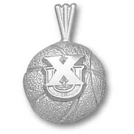 Xavier 1/2in Basketball Pendant Sterling Silver
