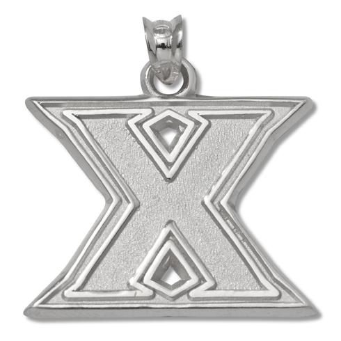 Xavier University 3/8in Pendant Sterling Silver