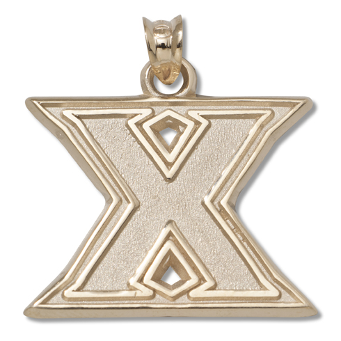 Xavier University 3/8in Pendant 14kt Yellow Gold