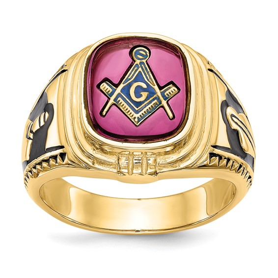 Oblong Blue Lodge Ring - 14k Gold