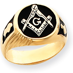 Blue Lodge Signet Ring - 14k Gold