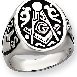 Jumbo Blue Lodge Signet Ring - 14k Gold