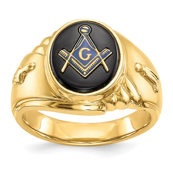 Oval Blue Lodge Ring - 14k Gold