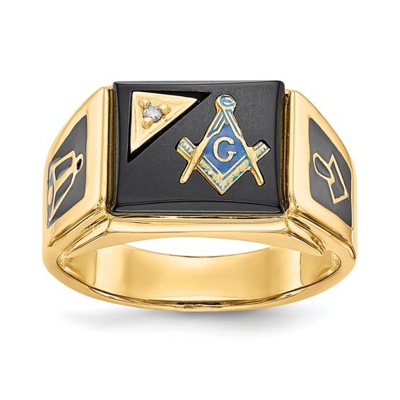 Diamond Blue Lodge Ring - 14k Gold