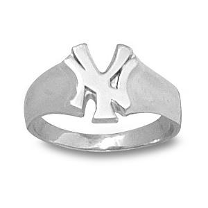 New York Yankees Sterling Silver Ladies Ring