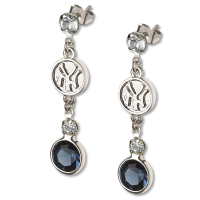 New York Yankees Crystal Logo Earrings